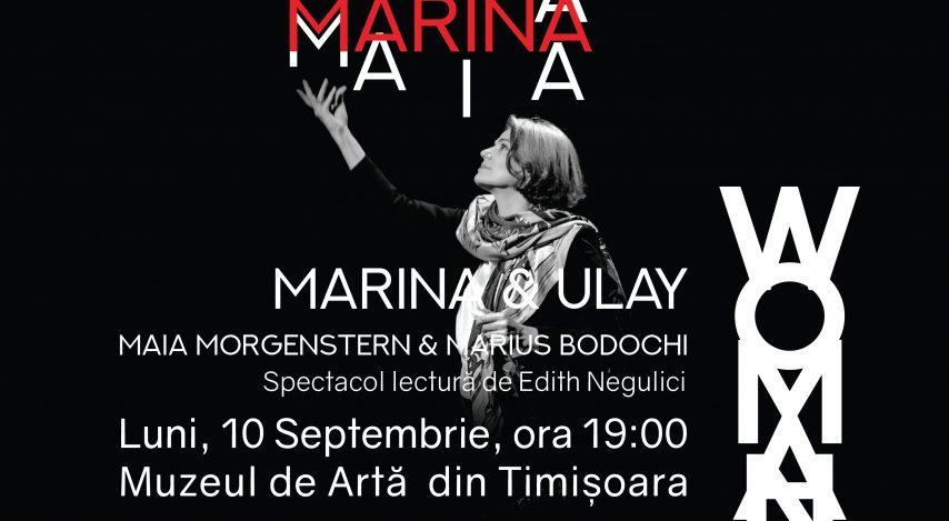 Maia Morgenstern și Marius Bodochi la Woman All Too Woman – în premieră națională în spectacolul-lectură Marina & Ulay. Ce trebuie să știi despre una din cele mai cunoscute povești de iubire din domeniul artei