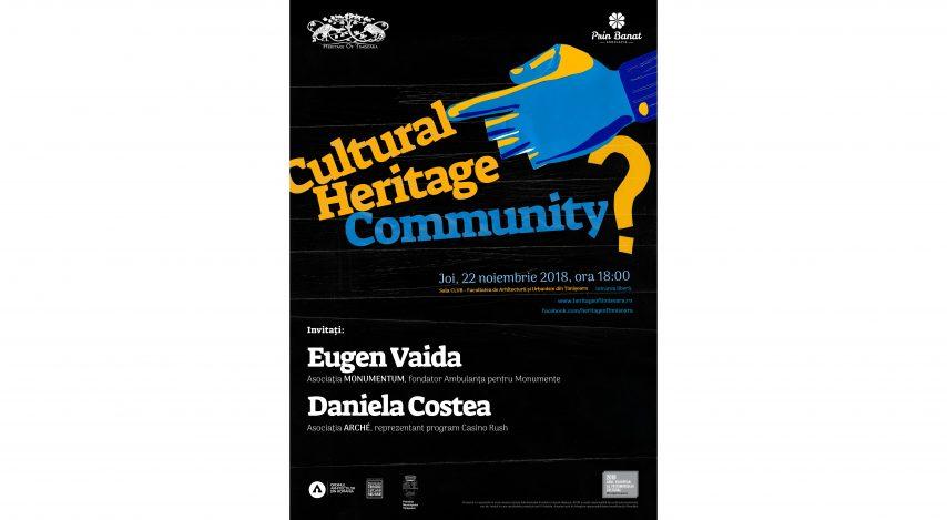 S.O.S. patrimoniul cultural al Timișoarei – invitație la dialog în prima mini-conferință Cultural Heritage <--> Community?